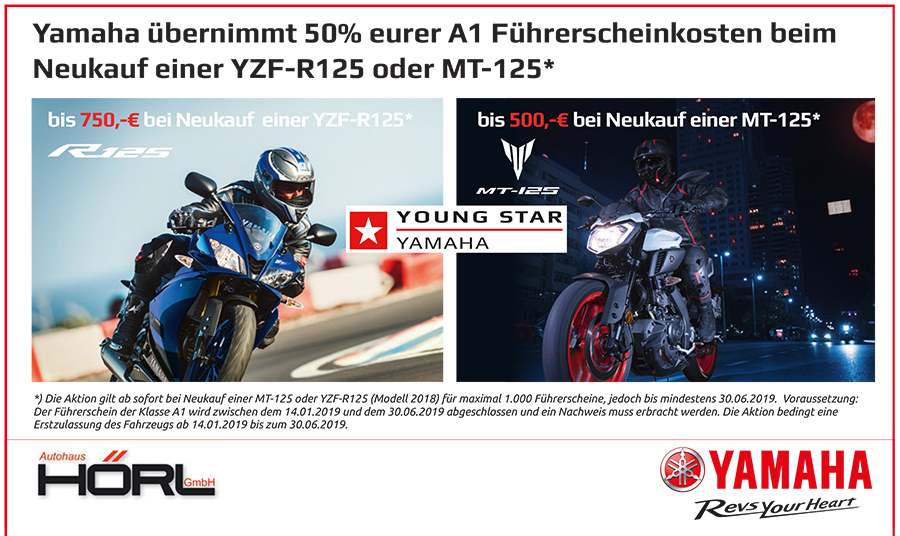 Angebot Führerscheinkosten von Yamaha